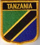 Tanzania Embroidered Flag Patch, style 07.